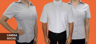 Camisa social masculina e feminina
